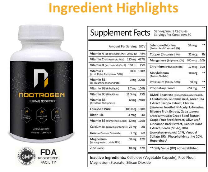 Nootrgen Ingredients